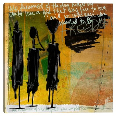 "35"" x 35"" Tribe by Nikki Chu Canvas Art Print Yellow - Masterpiece Art Gallery"