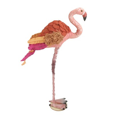 """Northlight 21.5"""" Tropical Textured Pink Flamingo Table Top Decoration"""