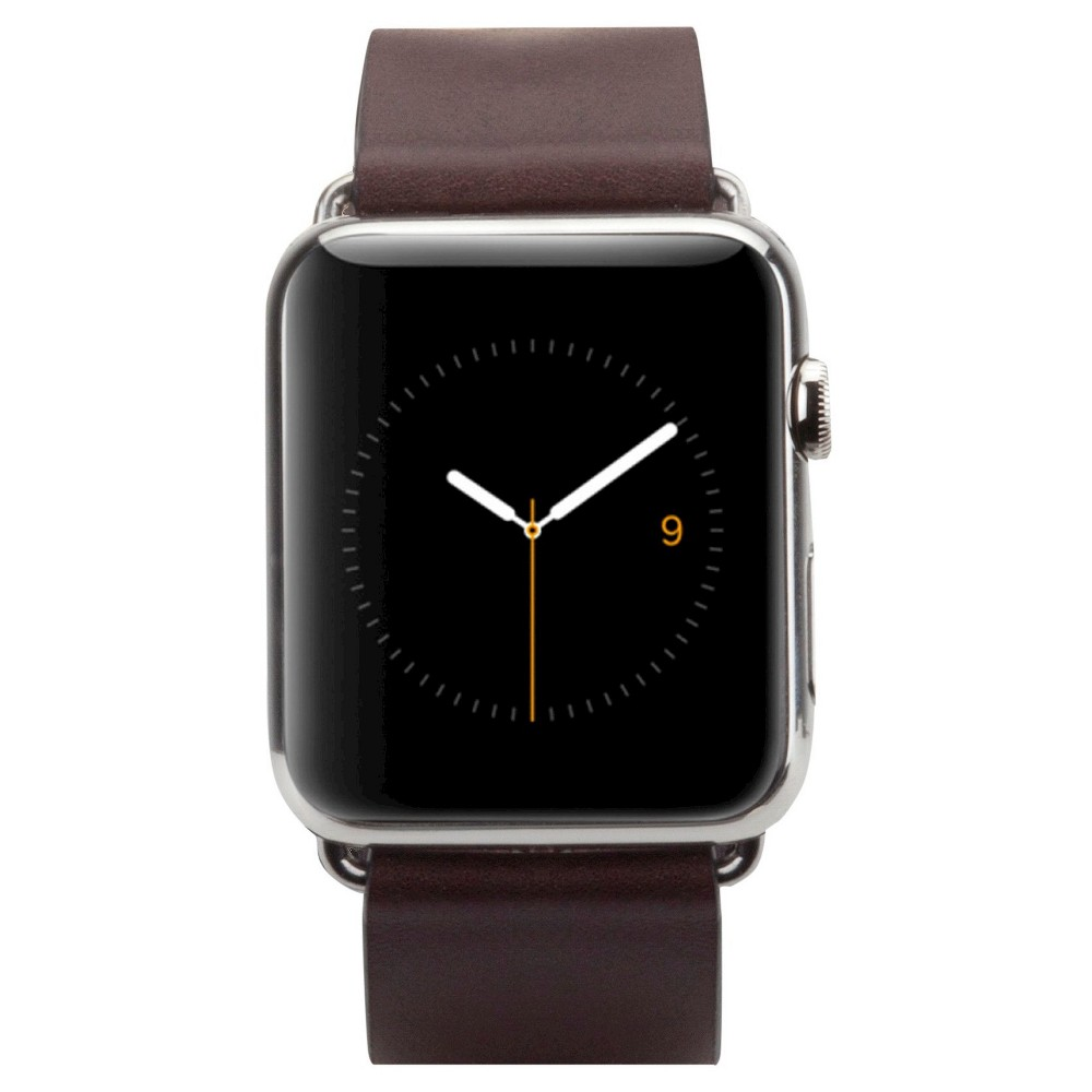 Case-Mate 42mm Signature Leather Watch Band - Tobacco, Brown