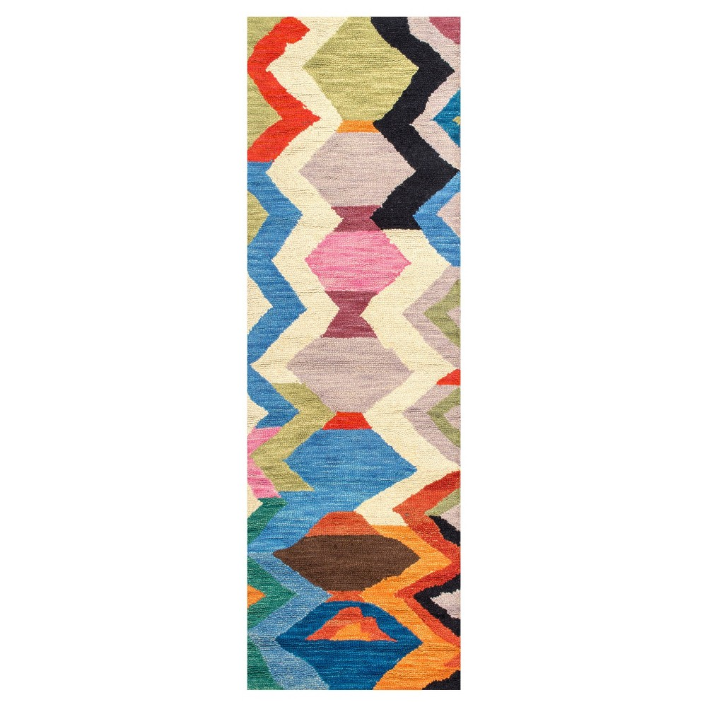 Solid Tufted Runner - (2'6x8') - nuLOOM, Multicolored