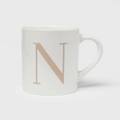 16oz Stoneware Monogram Mug N - Threshold™