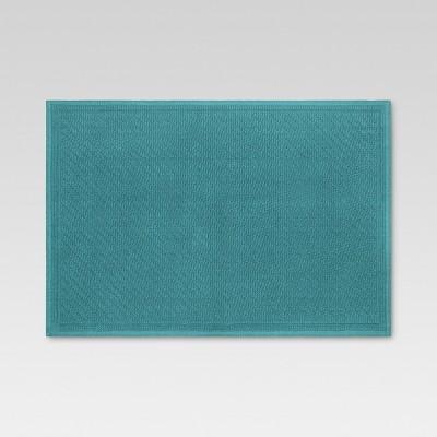 30 x21  Performance Solid Bath Mat Teal - Threshold™