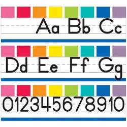 Schoolgirl Style 8pc Hello Sunshine Alphabet Line - Manuscript Mini Bulletin Board