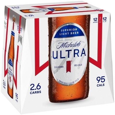 Michelob Ultra Superior Light Beer - 12pk/12 fl oz Bottles