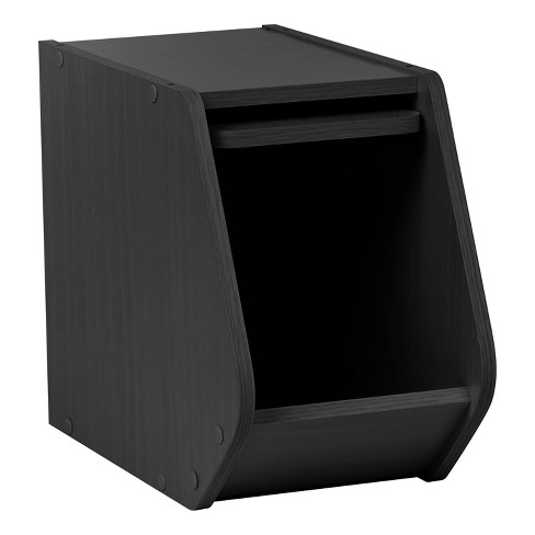 IRIS Tachi Narrow Wood Storage Box with Door - image 1 of 4
