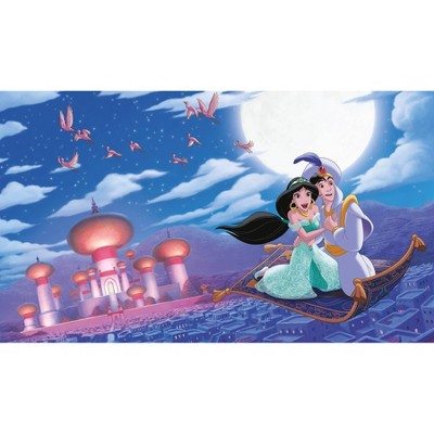 6'x10.5' XL Aladdin 'A Whole New World' Chair Rail Prepasted Mural Ultra Strippable - RoomMates
