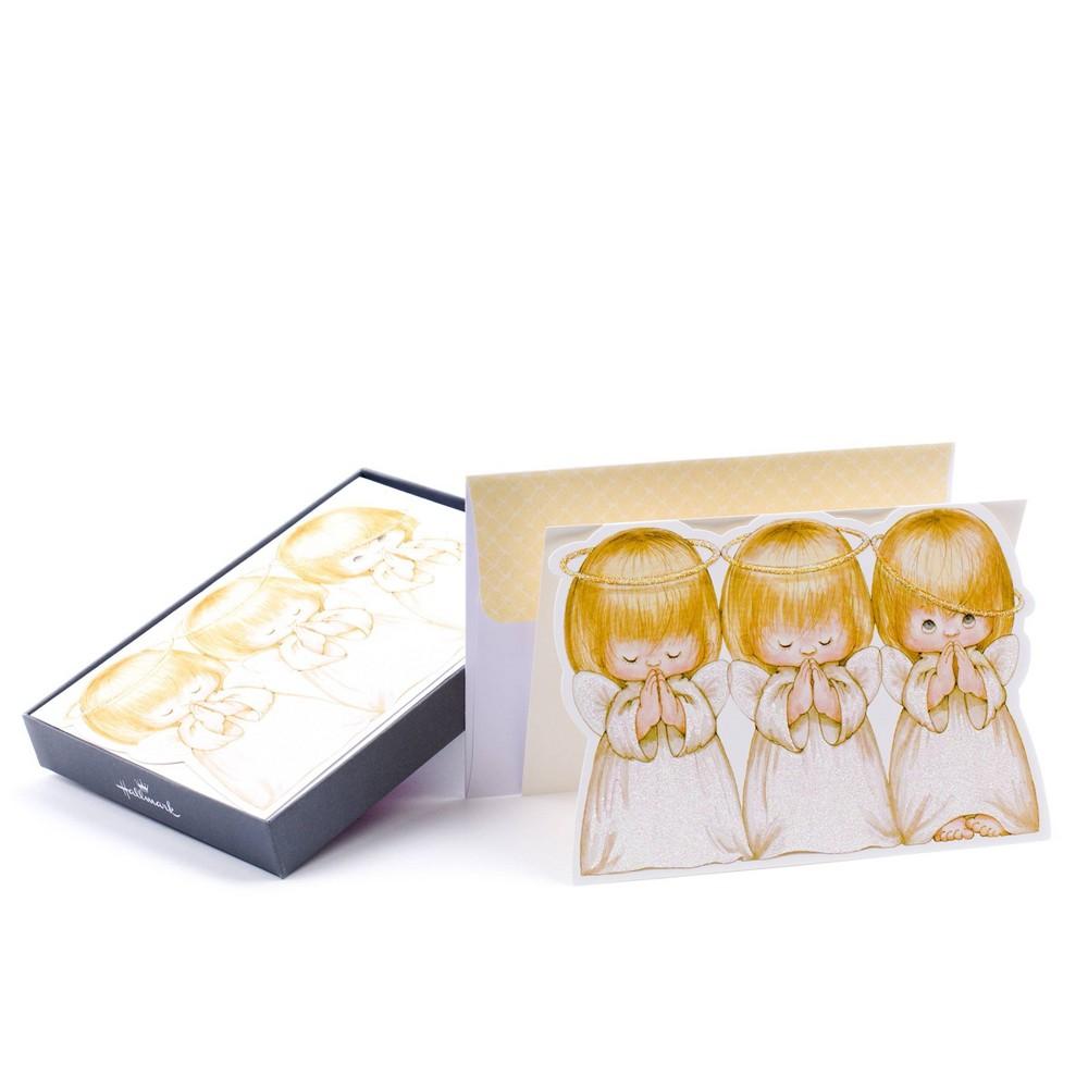 Image of 16ct Hallmark Three Angels Greeting Cards