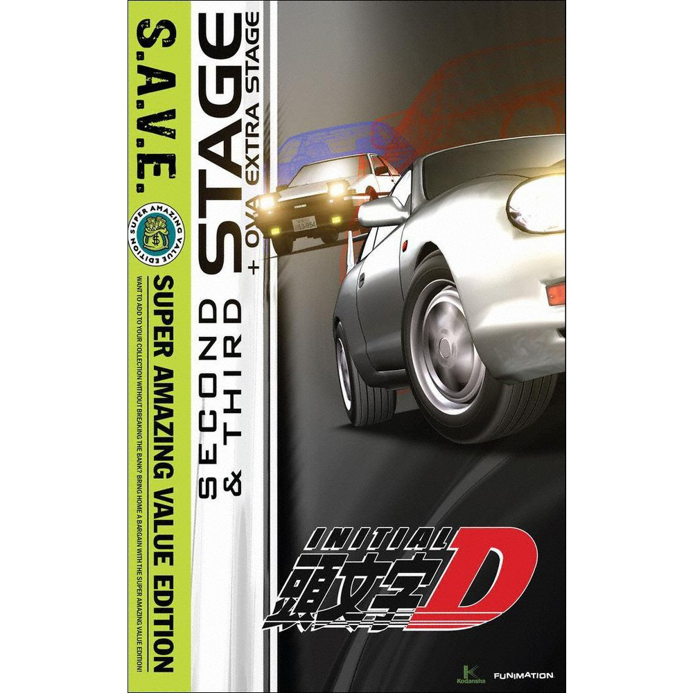 Initial D:Stage 2 & Stage 3 (Save) (Dvd)