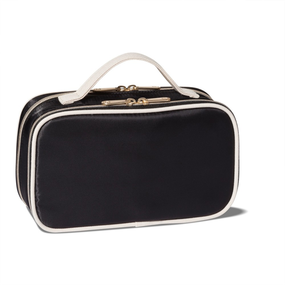 Sonia Kashuk Two Compartment Makeup Organizer Bag - Black