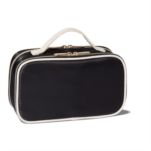 Sonia Kashuk Two Compartment Makeup Organizer Bag Black