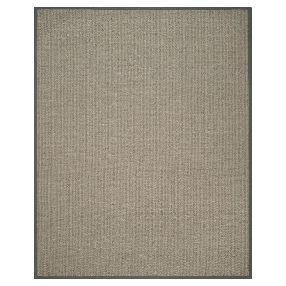 9'X12' Zig Zag Area Rug Gray - Safavieh Product Image