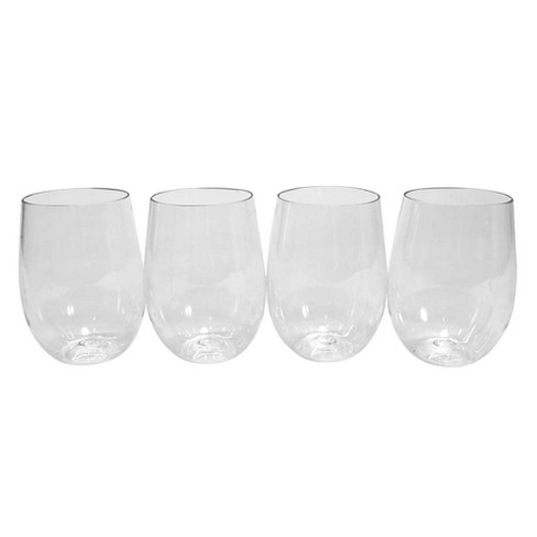 4pk Clear Disposable Cups - Spritz™ - image 1 of 1