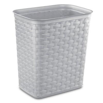 Sterilite No-lid Trash Can Gray