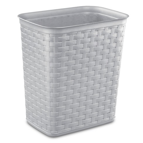 Sterilite No-lid Trash Can Gray - image 1 of 3