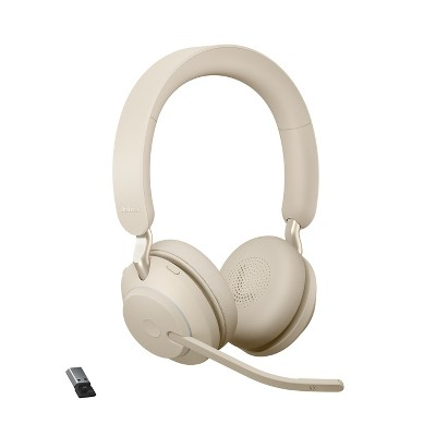 Jabra Evolve2 65 USB-A UC Stereo - Beige Wireless Headset / Music Headphones