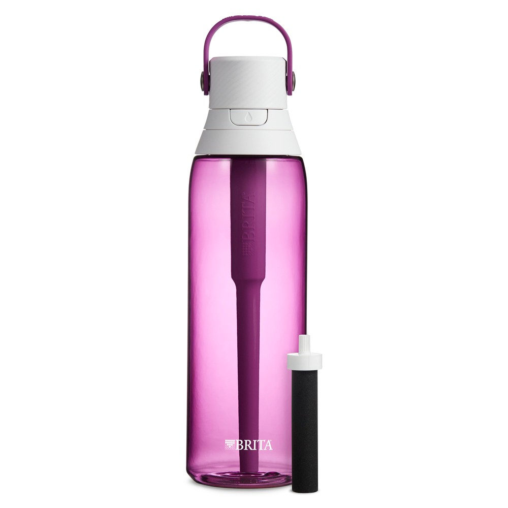 Image of Brita Premium 26oz Filtering Water Bottle with Filter BPA Free - Orchid, Purple