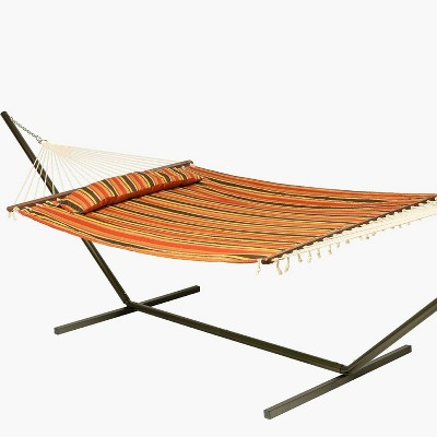 Coronado Double Quilted Hammock Red/Brown Stripe - Smart Living