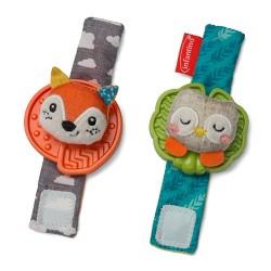 Infantino Go gaga! Wrist Rattles - Fox & Owl