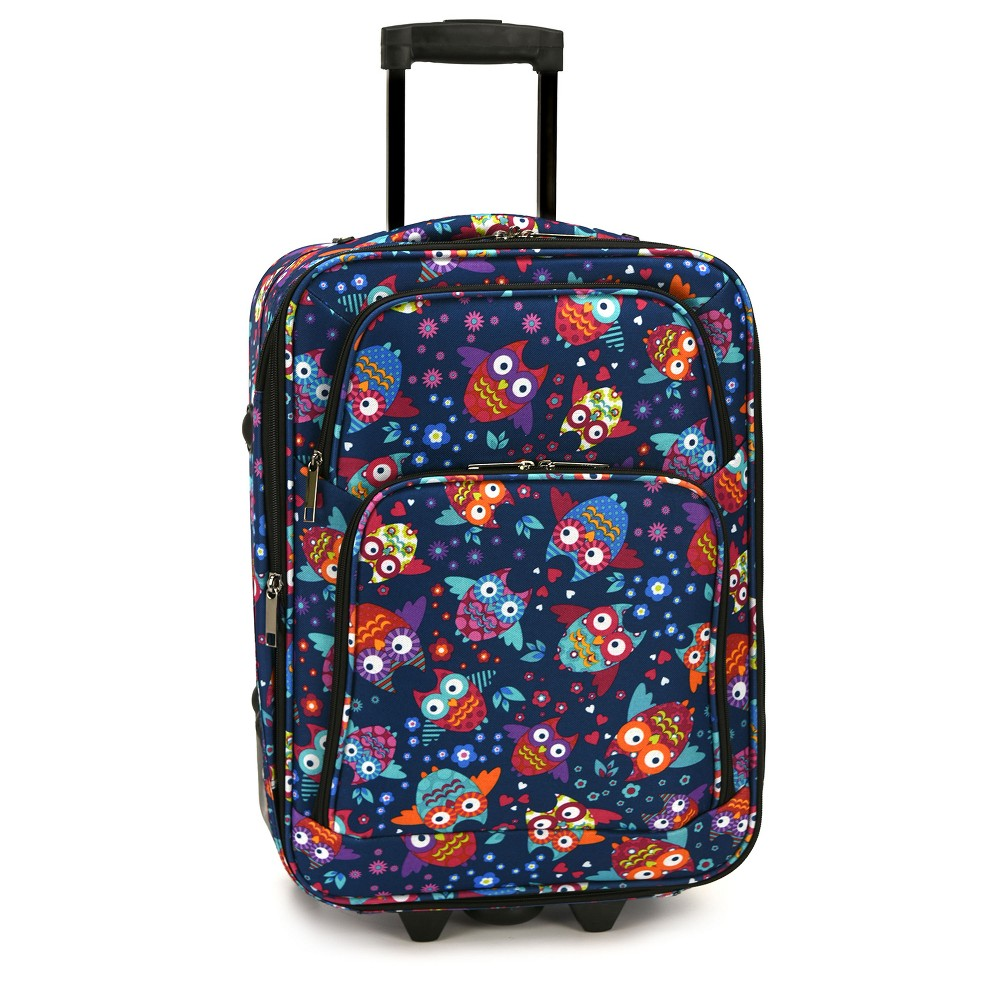 Elite 20 Carry On Rolling Suitcase - Owls, Multi-Colored