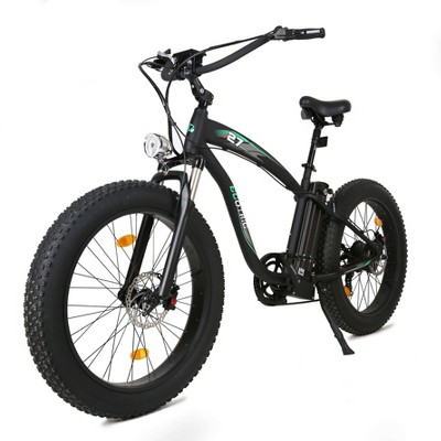 "Ecotric Hammer 26"" Electric Mountain Bike - Matte Black"