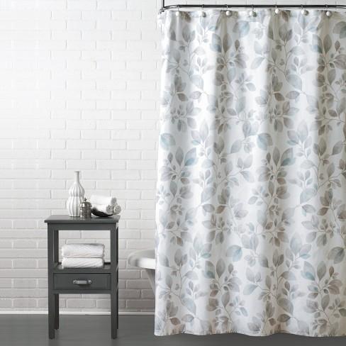 Faithful Leaves Shower Curtain Gray - Saturday Knight Ltd. - image 1 of 2