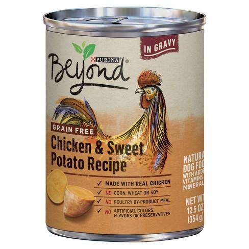 Purina Beyond Grain Free, Natural Gravy Wet Dog Food, Grain Free Chicken & Sweet Potato Recipe - 12.5oz - image 1 of 5