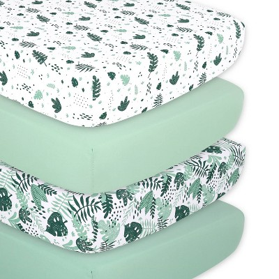 The Peanutshell Fitted Sheets - Botanical - 4pk