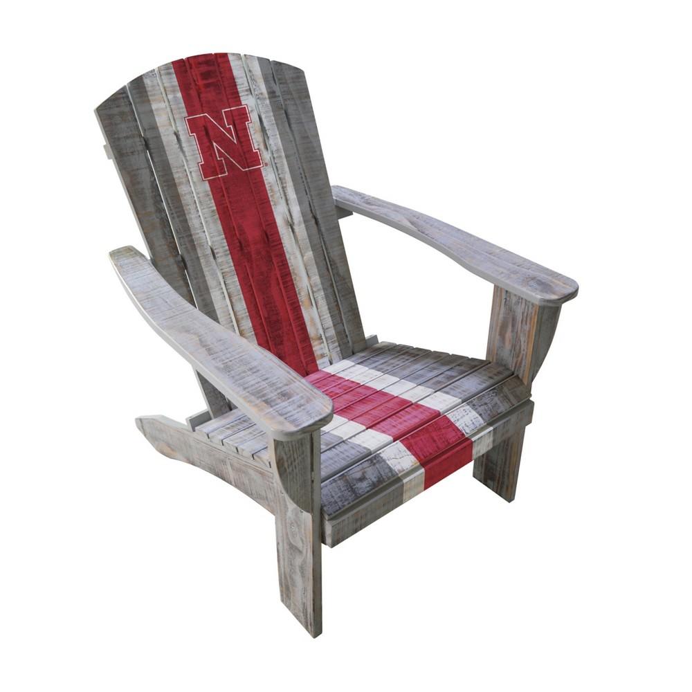 NCAA University of Nebraska Cornhuskers Wooden Adirondack Chair
