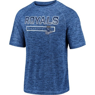 MLB Kansas City Royals Men's Short Sleeve Striated Athleisure T-Shirt