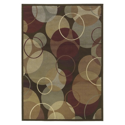 Contemporary Circles Brown Area Rug - image 1 of 1