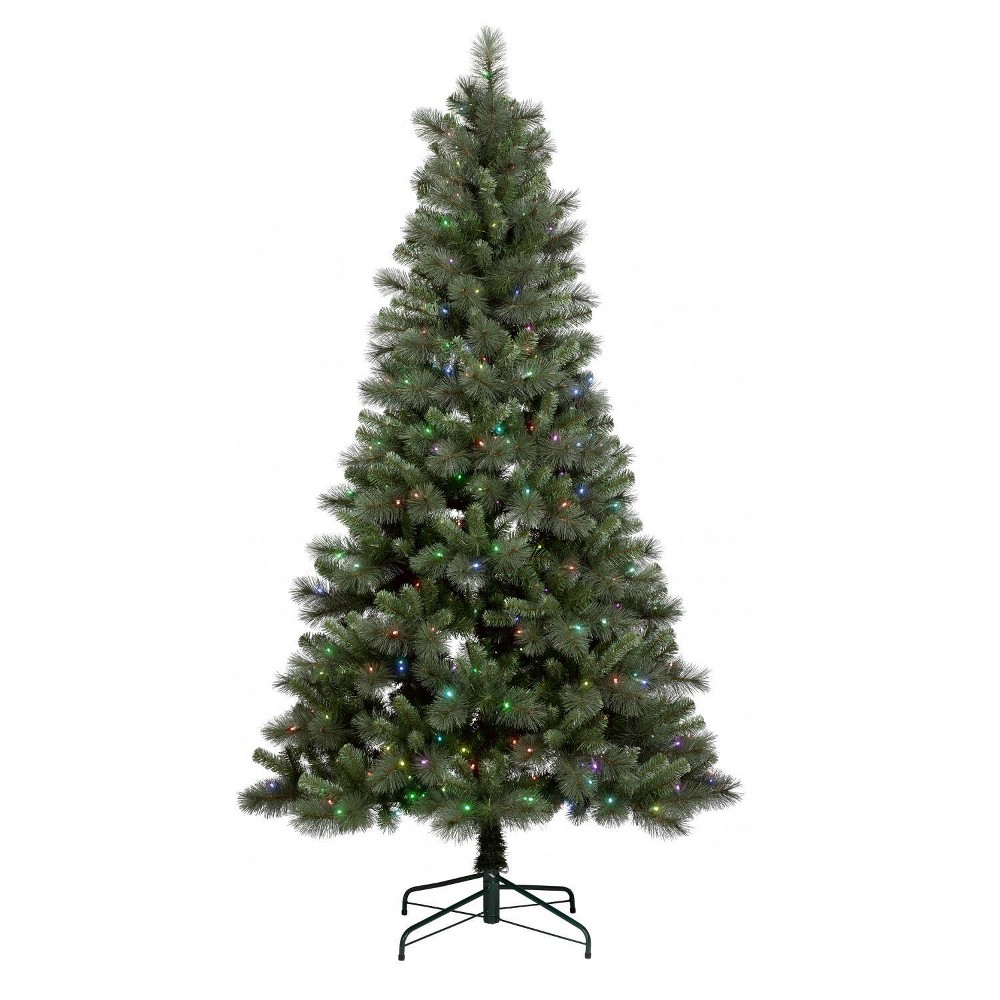 Image of Philips 7.5ft Pre-lit Full Douglas Fir Color Select LED Lights Auto Connect Remote Control Artificial Christmas Tree, Green