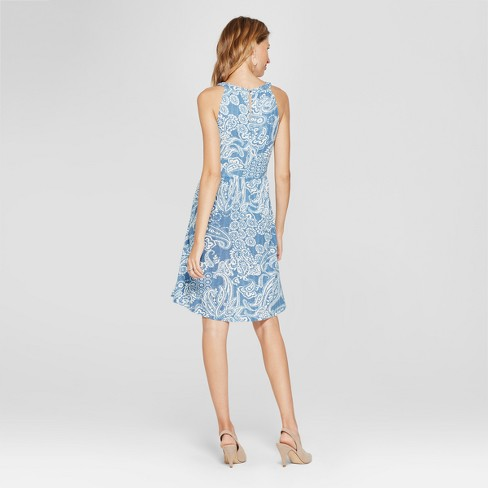 61b96ce2ecef Women's Printed Crochet Detail Dress - Spenser... : Target