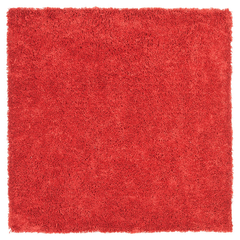 Rust (Red) Solid Tufted Square Area Rug - (7'x7') - Safavieh