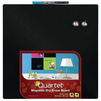 "Quartet 14"" Square Magnetic Dry Erase Board - 1ct Black"