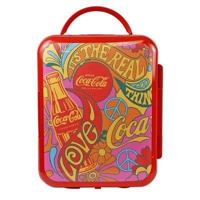 Coca-Cola Peace 1971 Series 6 Can Cooler/Warmer Mini Fridge