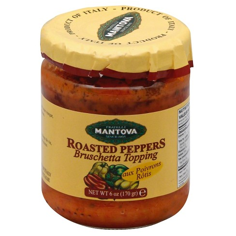 Mantova Roasted Peppers Bruschetta Topping - 6oz - image 1 of 1