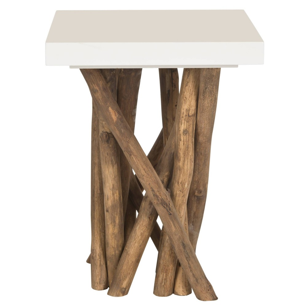 Hartwick Side Table - White - Safavieh