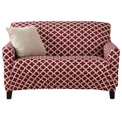 Great Bay Home Printed Twill Stretch Love Seat Slipcover