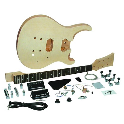 Saga HT-10 PS-Style Electric Guitar Kit, Brown