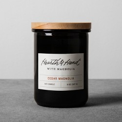 8oz Lidded Jar Container Candle Cedar Magnolia - Hearth & Hand™ with Magnolia
