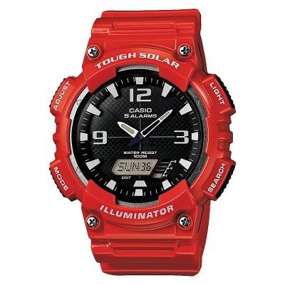 Men's Casio Solar Sport Combination Watch - Red