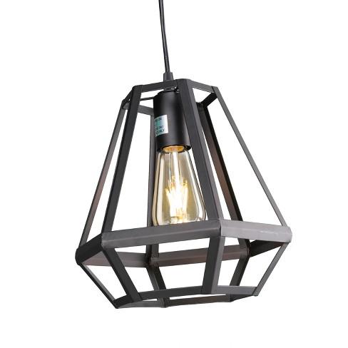 Druantia Caged Lantern Pendant Lamp - Matte Black - Aiden Lane - image 1 of 4