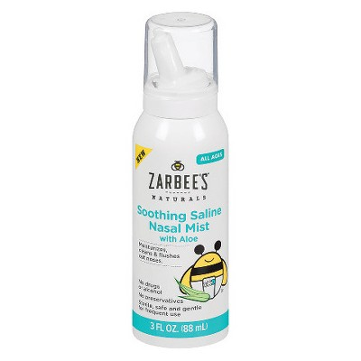 Zarbee's Naturals Soothing Saline Mist with Aloe - 3 fl oz
