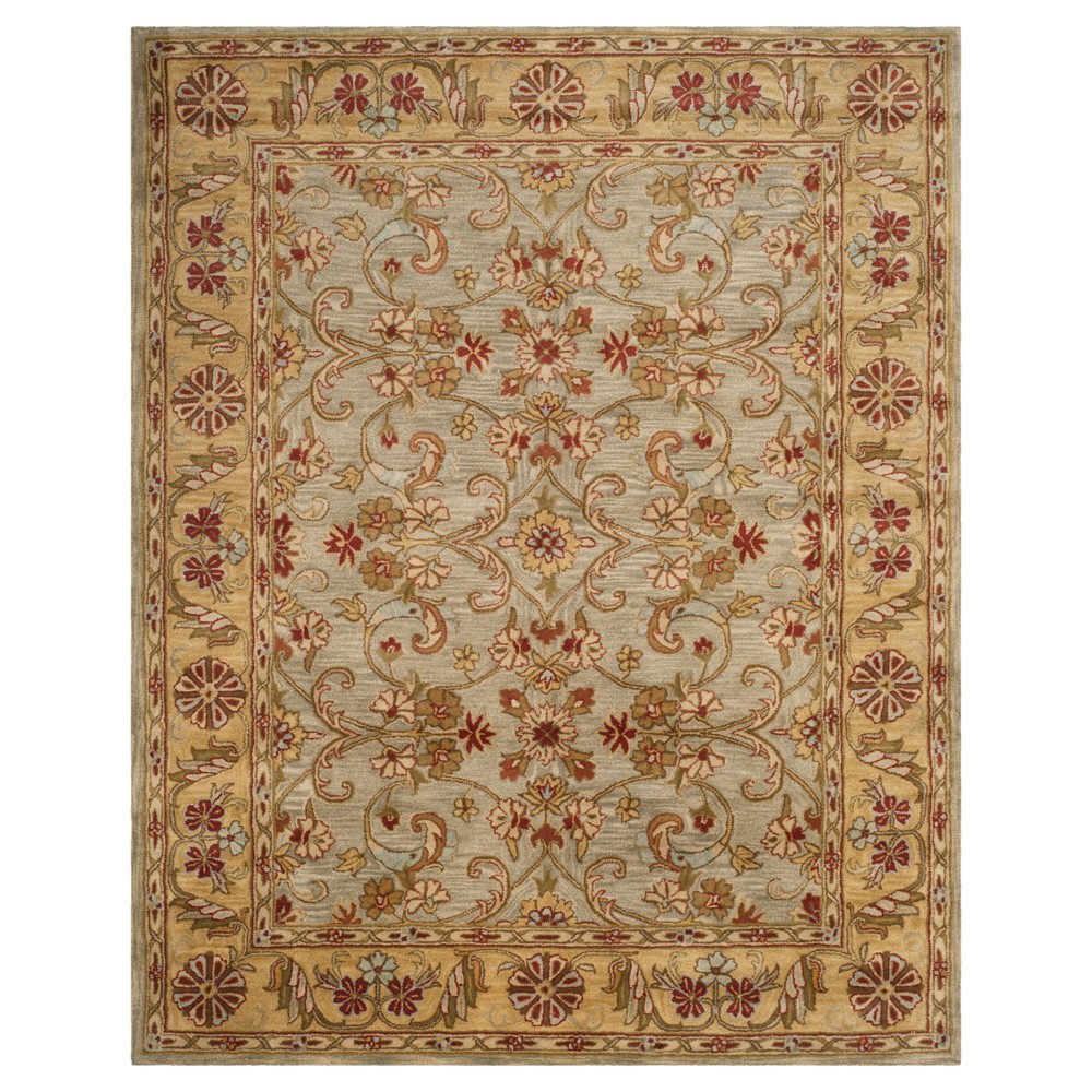 Light Green/Gold Floral Tufted Area Rug 4'X6' - Safavieh