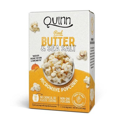 Quinn Butter And Sea Salt Popcorn - 3.5oz 2ct
