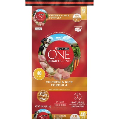 Purina ONE Chicken and Rice Dry Dog Food - 40lbs