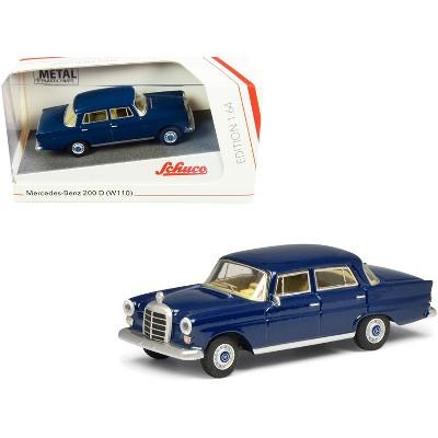 Mercedes Benz 200 D (W110) Heckflosse (Fintail) Dark Blue 1/64 Diecast Model Car by Schuco