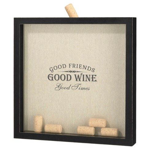 "Rustic Black ""Good Friends, Good Times"" Cork Frame - image 1 of 1"