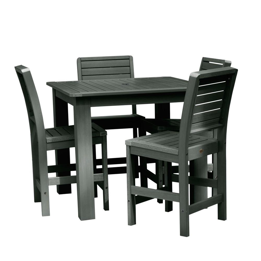 Weatherly 5pc Square Counter Dining Set Charleston Green - Highwood