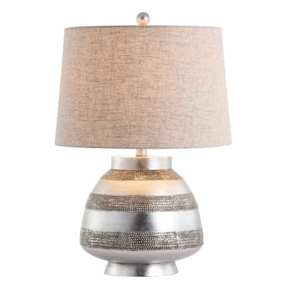 """24"""" Ziggy Resin Table Lamp (Includes LED Light Bulb) Silver - JONATHAN Y"""